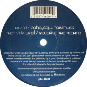 UFO! / Echo – Release The Techno / All Together - 2001